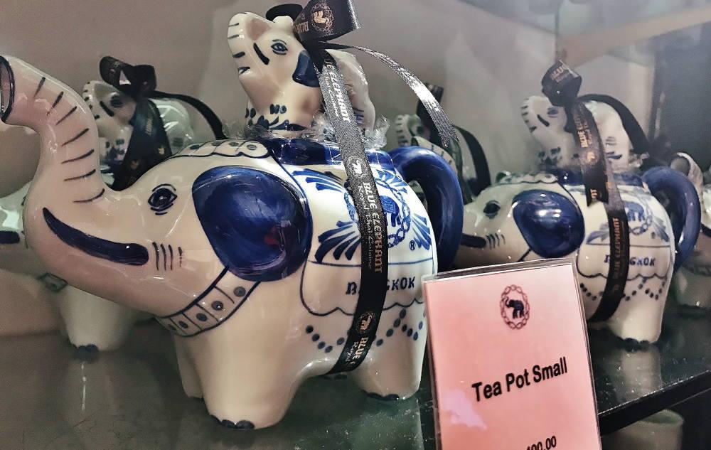 タイ料理店ブルーエレファントの象さん型ポット