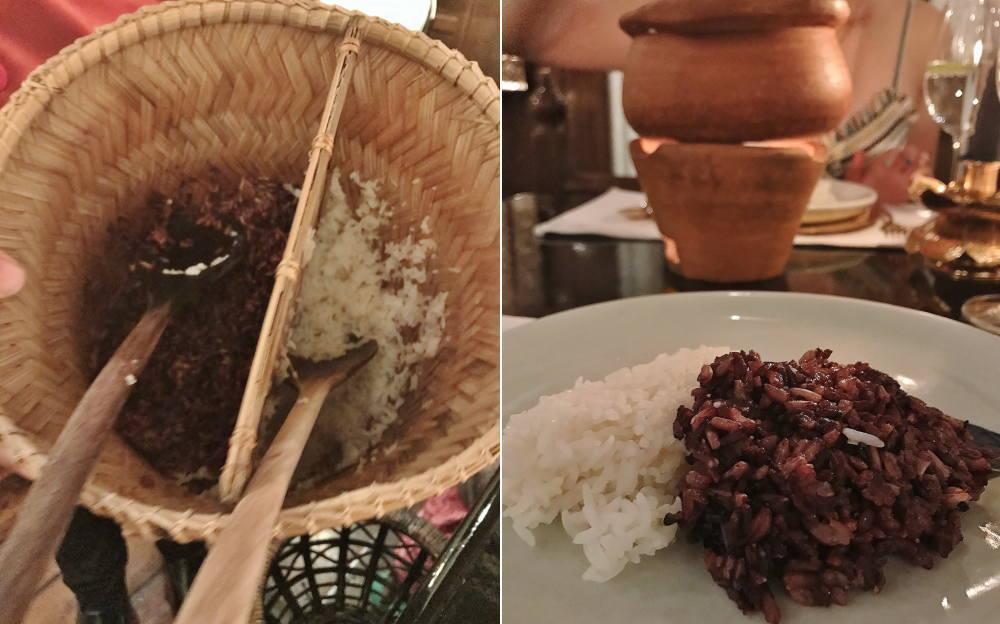 ブルーエレファントの赤米とタイ米