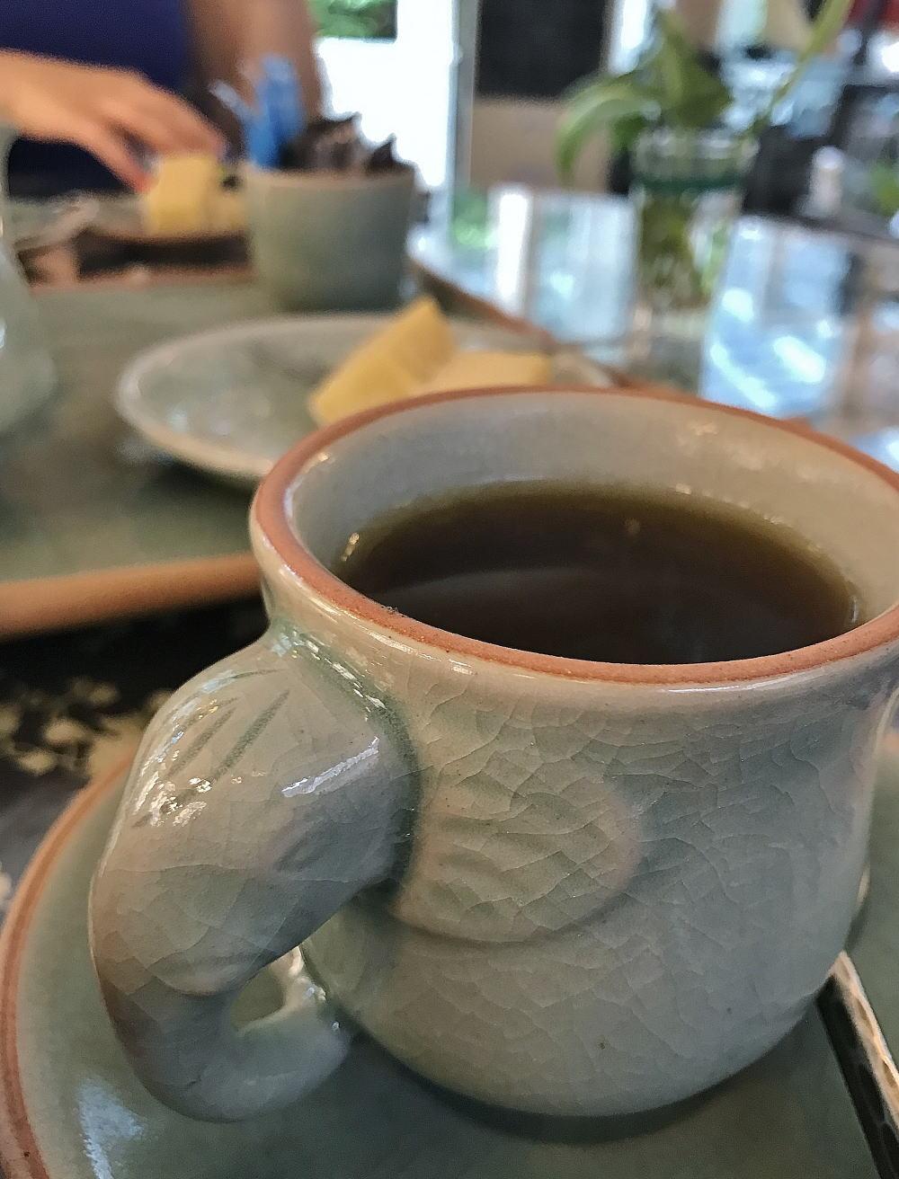 セラドン焼き 象のマグカップ