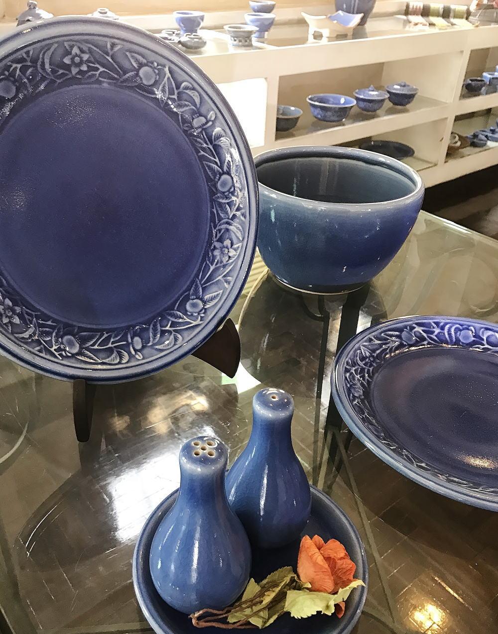 セラドン焼き 青色