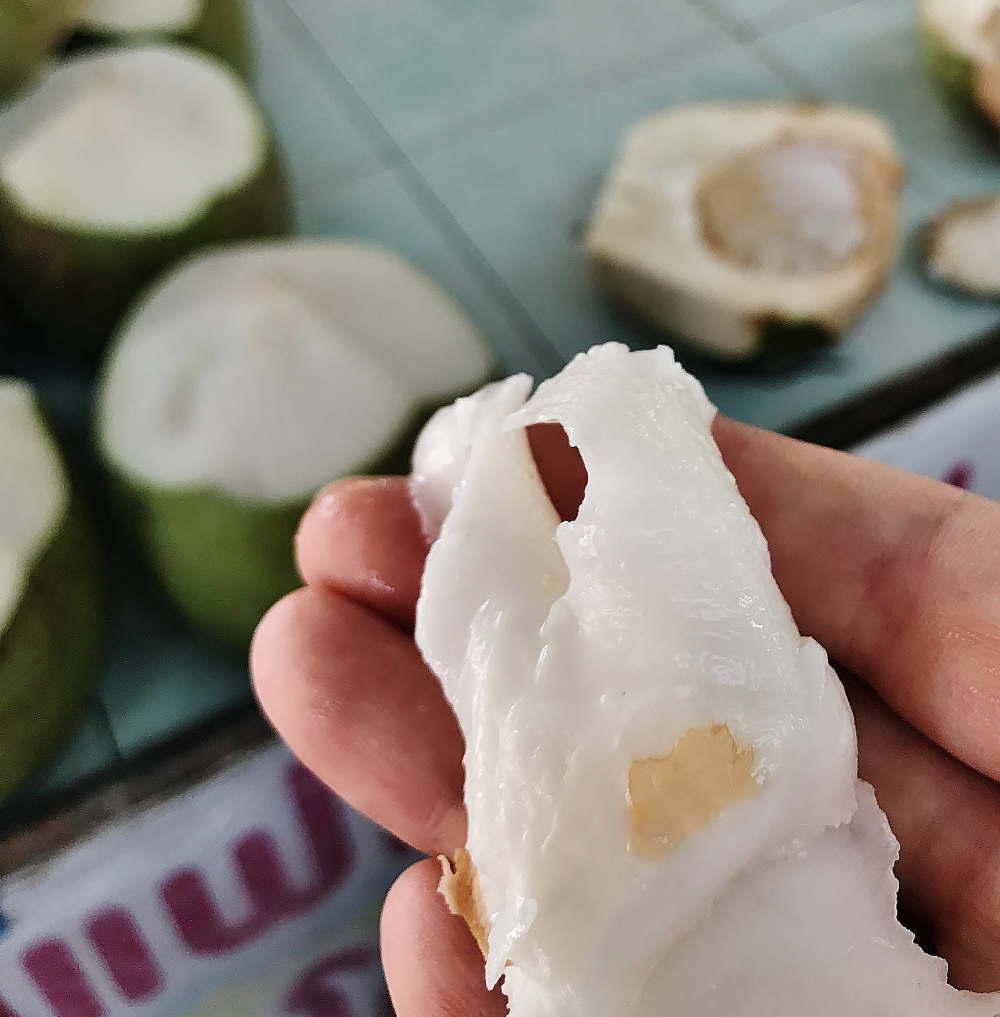ココナッツの内側 果肉