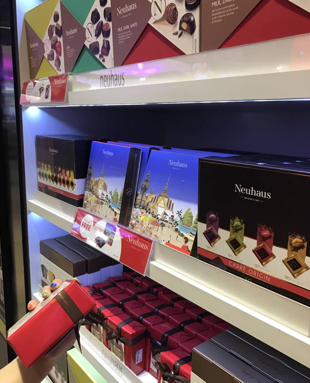 バンコク空港 チョコレート お土産 ノイハウス