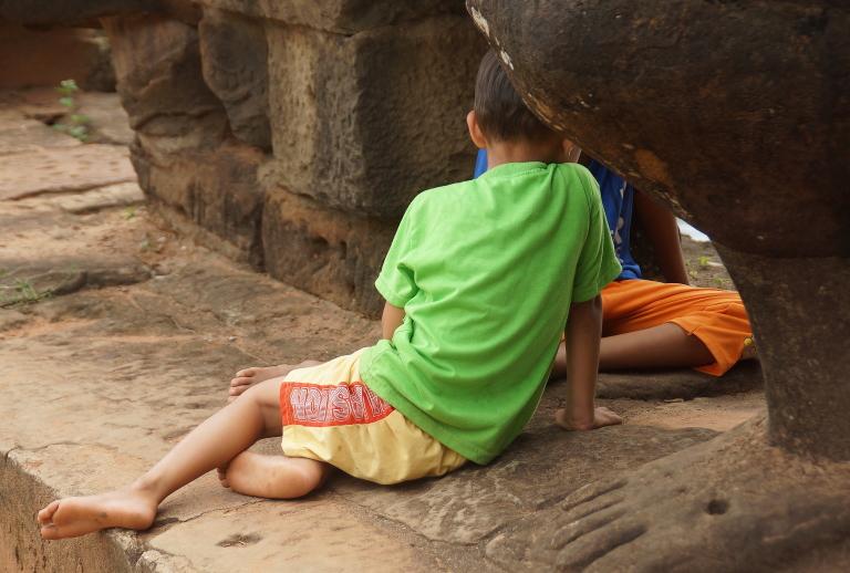 東南アジアの子供