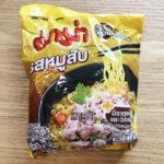 タイの有名インスタントラーメン「Mama」の豚ひき肉味を食べてみた!