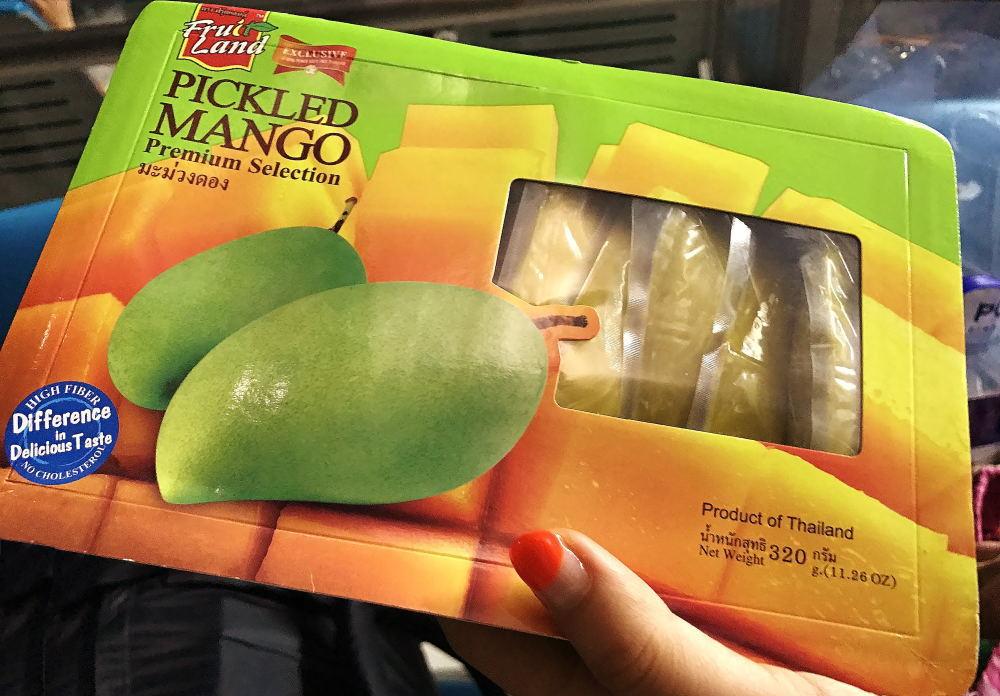酢漬けのマンゴー