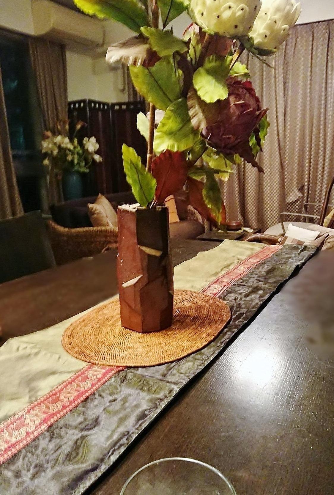 チェンマイ タイシルク テーブルランナー