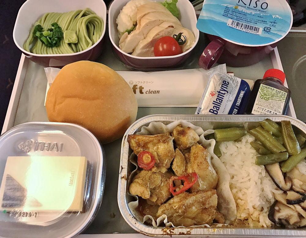 タイ航空 機内食 マッサマンカレー