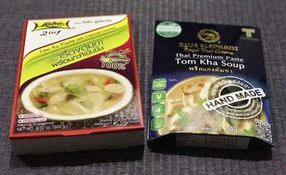 自宅でトムカーガイ レトルト食品 タイ料理の素