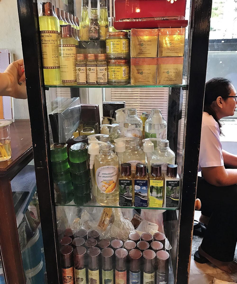 タイ伝統医学・古式マッサージ学校の物販